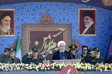 سخنرانی حسن روحانی، رئیسجمهور در مراسم رژه نیروهای مسلح در تهران