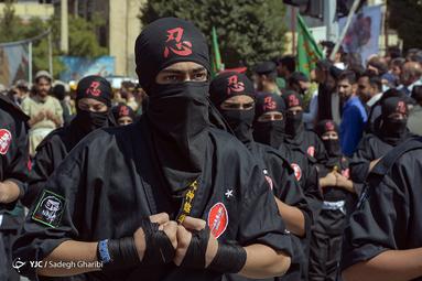 مراسم رژه نیروهای مسلح در یاسوج