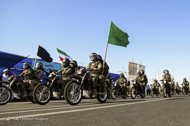 مراسم رژه نیروهای مسلح در تبریز