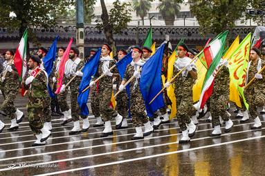 مراسم رژه نیروهای مسلح در مازندران