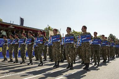 مراسم رژه نیروهای مسلح در قزوین