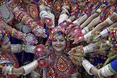 آیین سنتی در احمدآباد ، هند