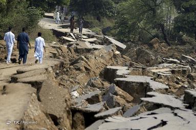 زلزله در جاتلان، در نزدیکی میرپور، در شمال شرقی پاکستان