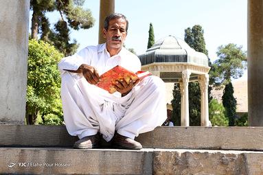تفأل به حافظ شیرازی دوش میآمد و رخساره برافروخته بود تا کجا باز دل غمزدهای سوخته بود
