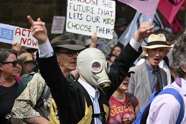 تظاهرات فعالان محیط زیست در استرالیا