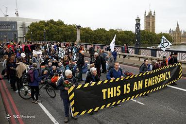 تظاهرات فعالان محیط زیست در انگلستان