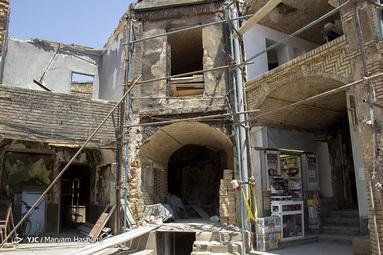 بازار تبریز بعد از آتش سوزی