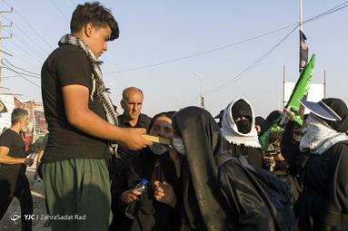 حال و هوای زوار اربعین در مرز شلمچه