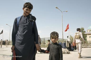 ورود زائران اربعین پاکستانی به مرز میرجاوه