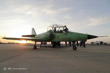 مراسم بال گشایی هواپیمای جت آموزشی پیشرفته یاسین