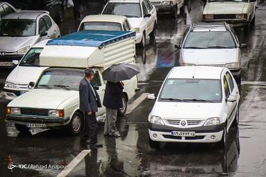 بارش باران پائیزی در تبریز