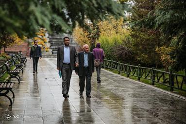 بارش باران پائیزی در تهران
