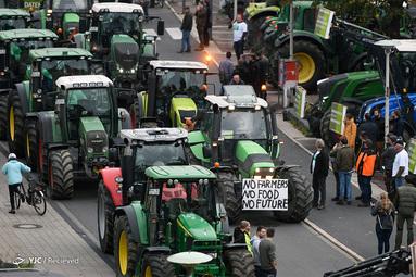 اعتراضات گسترده کشاورزان آلمانی