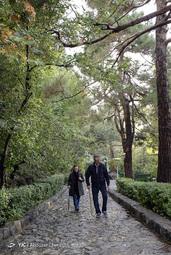 زوج معلم بازنشسته در حال حرکت به سمت ارتفاعات تهران از پارک جمشیدیه