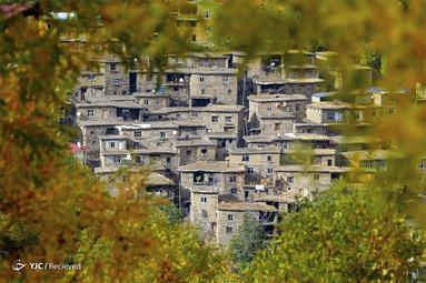 منظره ای از منطقه هیزان در پاییز در استان بیتلیس ترکیه
