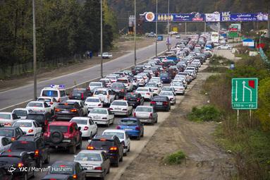 ترافیک سنگین جاده چالوس به سمت کرج