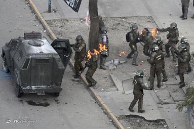 اعتراض در سانتیاگو ، شیلی