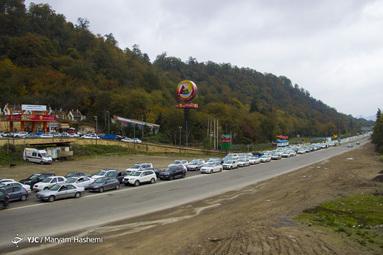 ترافیک سنگین جاده هراز