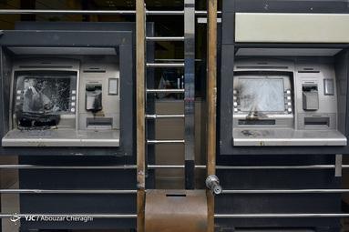 تخریب اموال عمومی توسط آشوبگران درتهران