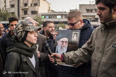 راهپیمایی انزجار مردم تهران از آشوبگران
