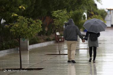 بارش باران زیبای پاییزی در جزیزه کیش