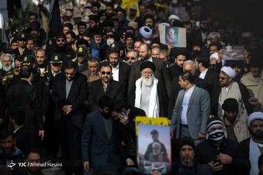 راهپیمایی گرامیداشت قربانیان سانحه هوایی در مشهد