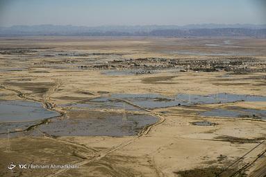 روستاهای گرفتار در سیلاب سیستان