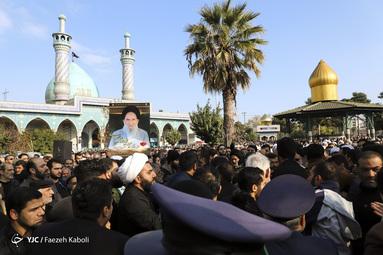 مراسم تشییع پیکر مرحوم آیت الله سید محمدرضا میبدی، مدیر حوزه علمیه رضویه گرگان
