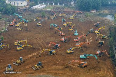 ساخت بیمارستان هزار تختخوابی در ۱۰ روز در چین