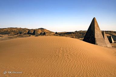 اهرام 2000 ساله ساخته شده در قرن هشتم قبل از میلاد در Khartoum سودان