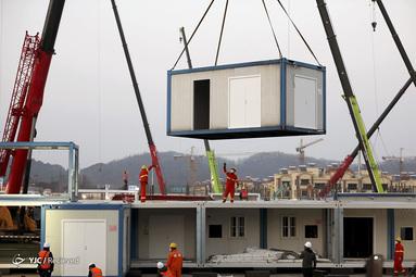 مراحل ساخت بیمارستان ۱۰۰۰ تختخوابی در چین