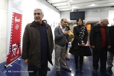 عوامل فیلم «خروج» در حاشیه روز هفتم سیوهشتمین جشنواره فیلم فجر