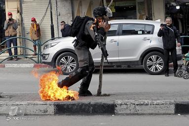 تظاهرات مردم فلسطین عیله طرح معامله قرن