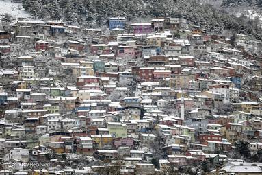 خانه های پوشیده از برف در منطقه اولوداچ در بورسای ترکیه