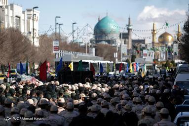 تشییع شهید مرزبانی امیررضا رمضانی در مشهد