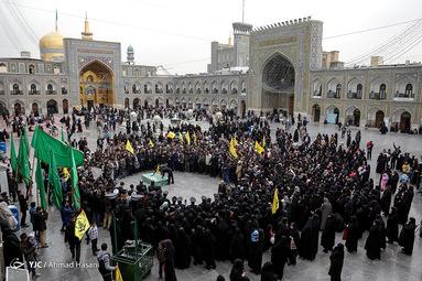 تشییع پیکر مطهر دو شهید مدافع حرم در مشهد