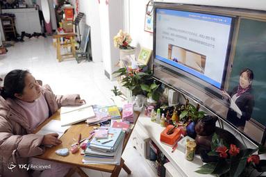 آموزس آن لاین کلاس های مجازی در چین بخاطر شیوع کرونا