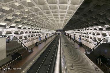 خلوتی ایستگاه مترو در واشنگتن بخاطر شیوع کرونا