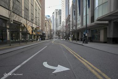 خلوتی خیابان های واشنگتن بخاطر شیوع کرونا