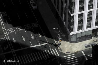 خیابان خالی در منهتن بخاطر شیوع کرونا