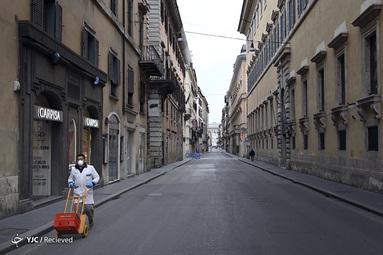 خلوتی کشور ایتالیا بخاطر شیوع کرونا