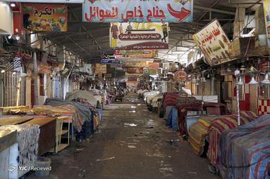 تعطیلی بازار موصل عراق بخاطر شیوع کرونا