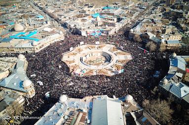 تجمع عظیم مردم همدان در سوگ شهادت حاج قاسم سلیمانی