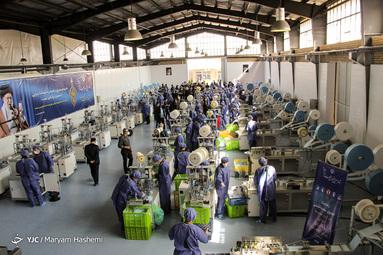 افتتاح بزرگترین کارخانه تولید ماسک جنوب غرب آسیا توسط ستاد اجرایی فرمان امام