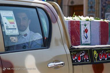 تشییع پیکر شهدای حادثه ناوچه کنارک نیروی دریایی ارتش در شیراز