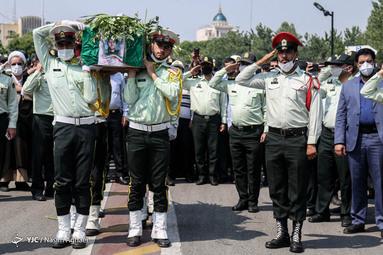 تشییع پیکر استواریکم شهیدمیلاد خسروی مامور تجسس کلانتری در ستاد فرماندهی انتظامی تهران بزرگ