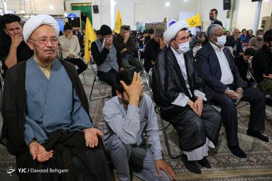 تشییع پیکر شهید «محمدرضا فیضی»  رزمنده مدافع حرم تیپ فاطمیون در مشهد مقدس