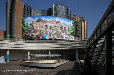 تابلو های شهری به مناسبت روز جهانی قدس در روزهایی که به دلیل ویروس کرونا امکان راهپیمایی وجود ندارد