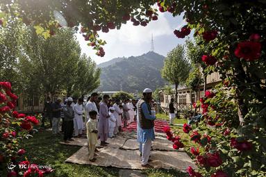 نماز عید فطر در کشمیر