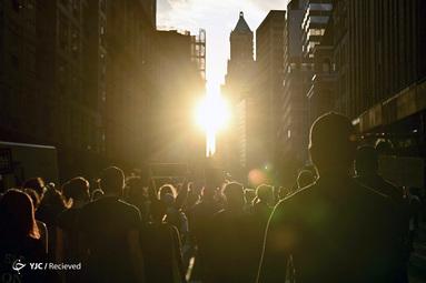 تظاهرکنندگان در اعتراض به قتل جورج فلوید در  نیویورک سیتی